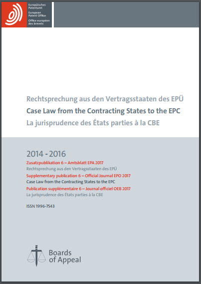 EPO Case Law 2014-2016