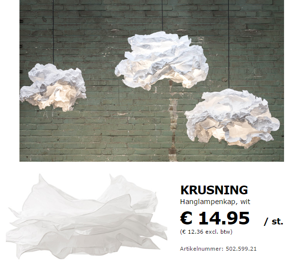 Proplamp IKEA Krusning